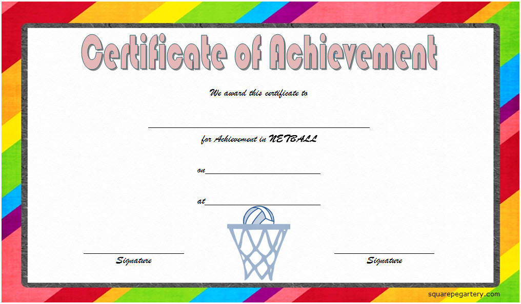 Netball Certificate Templates 10 Great Template Designs With Regard To 10 Certificate Of Championship Template Designs Free