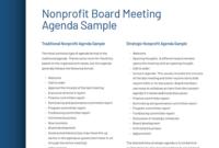Non Profit Board Meeting Agenda Template Pdf Template Regarding Quality Nonprofit Board Meeting Agenda Template