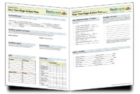 One Page Business Plan Template Ecommercewordpress Throughout 1 Page Business Plan Templates Free
