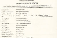Ontario Death Certificate Sample Choice Image Within Amazing Death Certificate Template
