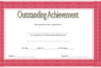 Outstanding Achievement Certificate 10 Template Ideas Throughout Student Leadership Certificate Template Ideas