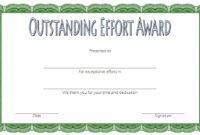 Outstanding Effort Certificate Template 10 Great Designs Pertaining To 10 Science Fair Winner Certificate Template Ideas