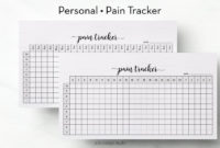 Pain Tracker Pain Journal Personal Planner Health Planner With Best Pain Log Template