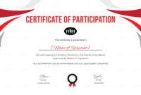 Participation Certificate For Running Template Intended Inside Free Free Templates For Certificates Of Participation