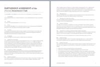 Partnership Contract Template Microsoft Word Templates With Business Contract Template For Partnership