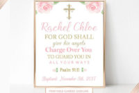 Personalized Baptism Gift Bible Verse Wall Art Baby Girl For Baptism Certificate Template Word 9 Fresh Ideas
