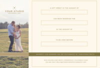 Photography Studio Gift Certificate Template Mimimal Luxe For Free Photography Gift Certificate Template