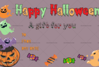 Printable Halloween Gift Certificate Templates Doc Formats Regarding Halloween Certificate Template