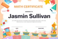 Printable Kindergarten Math Award Certificate Template In Math Award Certificate Template