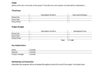 Project Proposal Template In Word And Pdf Formats Throughout One Page Project Proposal Template
