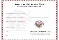 Puppy Birth Certificate Template Business For Free Puppy Birth Certificate Template