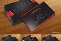 Red Tie Free Business Card Photoshop Psd Template For Business Card Size Template Photoshop