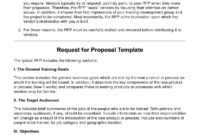Request For Proposal Template Ecommercewordpress In Best Simple Request For Proposal Template