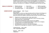 Restaurant Resume 14 Free Word Pdf Documents Download Pertaining To Quality Restaurant Managers Log Template