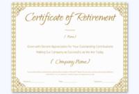 Retirement Certificate For Teacher Word Layouts Inside Free Retirement Certificate Templates For Word