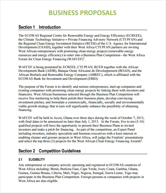 Sample Business Proposal 24 Documents In Pdf Word In Business Analysis Proposal Template