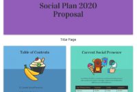 Social Media Plan Proposal Template Template Venngage For Amazing Social Media Proposal Template