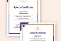 Sports Certificate Template 25 Word Psd Ai Indesign Regarding Athletic Certificate Template
