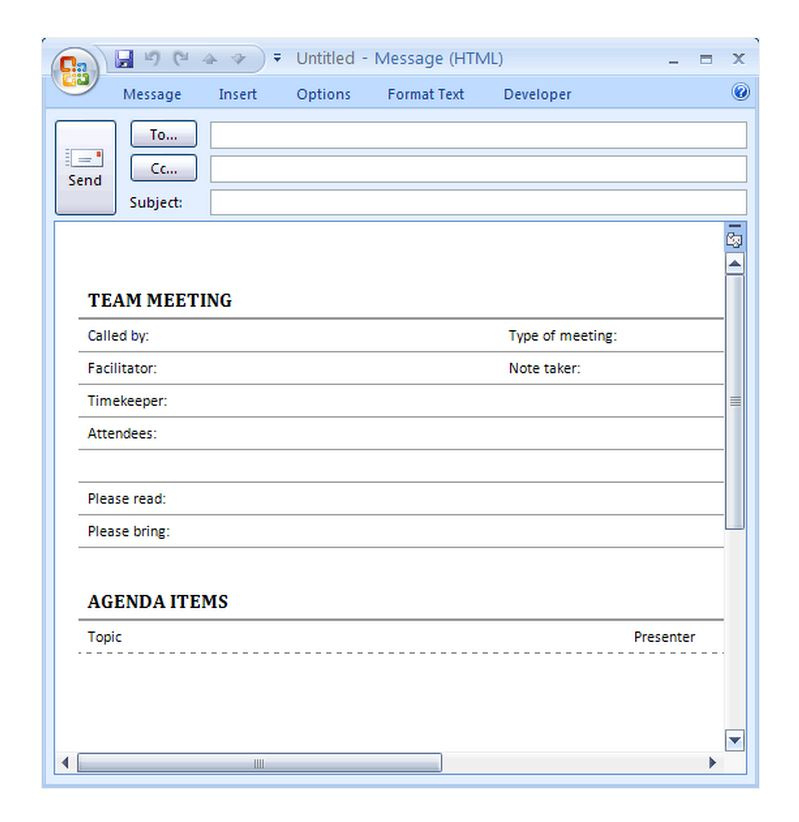 Staff Meeting Agenda Template Intended For Agenda And Meeting Minutes Template