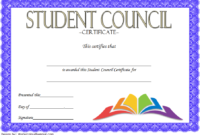 Student Council Certificate Template 8 New Designs Free Inside Printable Student Leadership Certificate Template Ideas