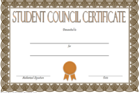 Student Council Certificate Template 8 New Designs Free With Student Leadership Certificate Template Ideas