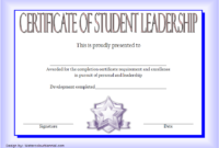 Student Leadership Certificate Template 10 Designs Free With Amazing Student Council Certificate Template