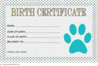 Stuffed Animal Birth Certificate Template 7 Funny Designs Within Best Build A Bear Birth Certificate Template