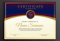 Stylish Certificate Design Professional Template Nohat With Regard To Design A Certificate Template