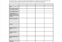 Subject Diary Template To Capture Patientreported Outcome With Pain Log Template