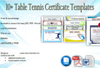 Table Tennis Certificate Templates Editable 10 Best Designs In Free Tennis Certificate Template