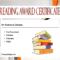 Top 10 Editable Reading Award Certificates Free Regarding Amazing Reading Achievement Certificate Templates