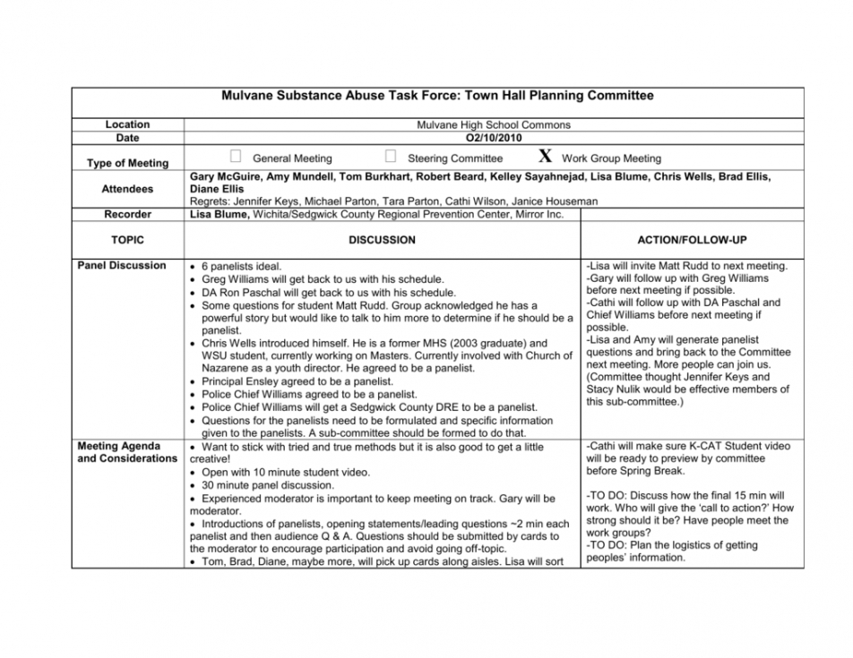 Town Hall Meeting Agenda Template Regarding Awesome Agenda And Meeting Minutes Template