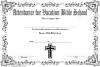 Vbs Attendance Certificate Template 7 Luxurious Designs Within Printable Vbs Certificates Free