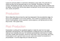 Video Production Business Proposal Template Regarding Awesome Video Production Proposal Template