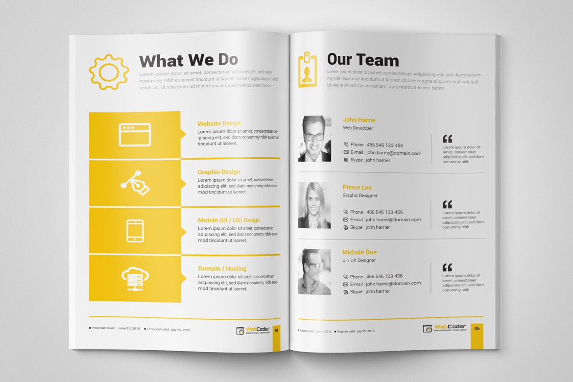 Web Proposal For Web Design And Development Agency For Web Development Proposal Template