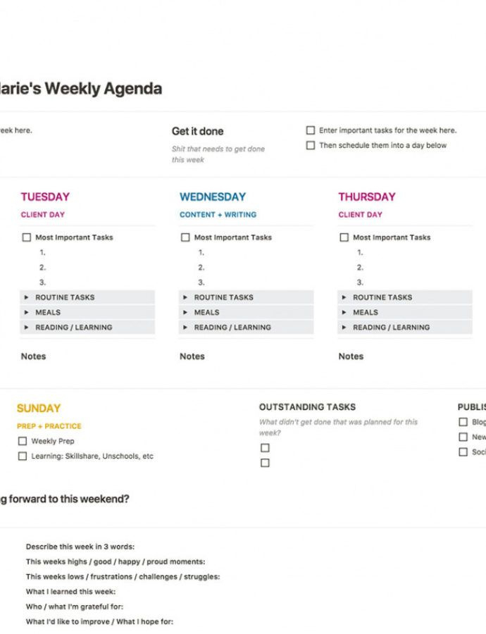 Weekly Agenda Template Notion With Regard To Quality Scout Committee Meeting Agenda Template