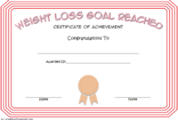 Weight Loss Certificate Template Free 8 New Designs Throughout Free Bake Off Certificate Templates