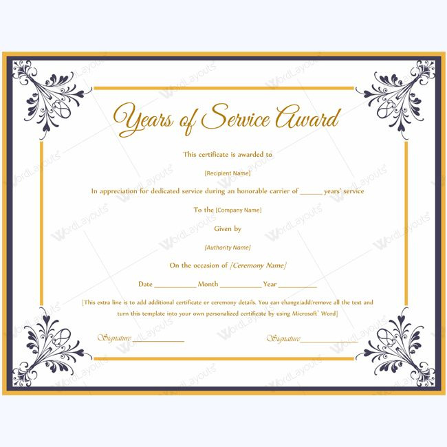 Years Of Service Award Templates Certificate Templates Throughout Best Free Teamwork Certificate Templates 10 Team Awards
